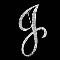 A-Z 26 Diamond Lettera inglese Spilla iniziale Pin Lepal Pin Top Shirts Badge Moda Gioielli per le donne Uomini e nave sabbiosa