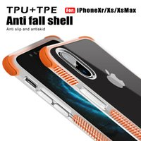 Para iphone xs 2 em 1 phone case à prova de choque de volta case capa tpu macio para iphone 8 plus iphone x s10 s10lite s10plus