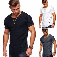 Hot 2018 New Spring Fashion O-cuello Slim Fit manga corta camiseta hombres Trend Casual Mens camiseta Europa y América T-shirts