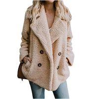 K - 코트 Faux lambswool 대형 자켓 코트 겨울 따뜻한 털이 자켓 여성 가을의 아우터 플러스 사이즈 모피 자켓 오버 코트 S18101204