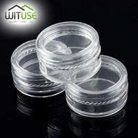 Verkauf 49% weg von 40pcs / lot leeren kosmetische Behälter-Flaschen Glas-Topf-Kasten-kleine Plastikgläser mit Deckeln Beispielminisahne geben Verschiffen frei