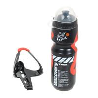 Wesentliche tragbare Outdoor 650ml Mountainbike MTB Fahrrad Radfahren Sport Wasserflasche mit Kunststoff Glasfaserhalter Käfigständer