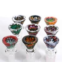 I narghini fatti di vetro borosilicato di alta qualità nuovo arriva le ciotole per le bongs ciotola colorata 1418 pipa di acqua molto spessa