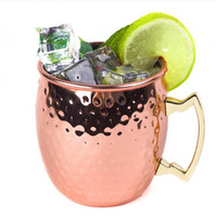 Медная кружка из нержавеющей стали Кубок пива Москва мул кружка розовое золото кованые медные покрытием посуда 40 шт. H05