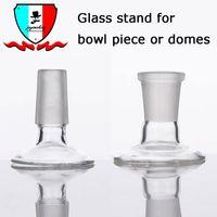 Peça de tigela de vidro Stand ou cúpulas 14 mm 19 mm MaleFemale stand para adaptador de vidro dab plataformas de petróleo