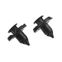 20 UNIDS NUEVO Plástico Remache Parachoques Clips de presión Sujetador Mud Flaps Parachoques Fender Push Clips de 8 mm para Nissan