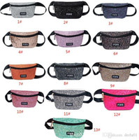 Pink Letter waist bag Glitter Pink Shiny Fanny Pack Travel B...