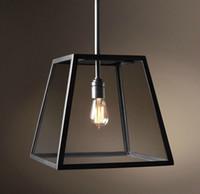 Rh Lighting Loft Hängsmycke Ljus Restoration Hårdvara Vintage Hänge Lampa Filament Hängande Edison Bulb Glas Box Rh Loft Lights Hängande Ljus
