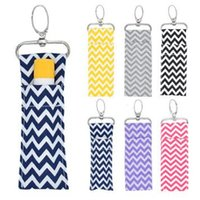 Chevron Lipstick Chapstick Holder Keychain Lip Bag Colors Mo...