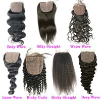 Top Wavy Brazilian Silk Based Closures Cheap Human Hair Braz...