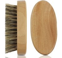 Nuovo set di uomini di cinghiale di cinghiale di capelli duro rotondo maniglia di legno barba baffi pennello set maquiagem nave libera