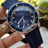 New Fifty Fathoms 50 Fathoms 5015D- 1140- 52B Steel Case Blue ...