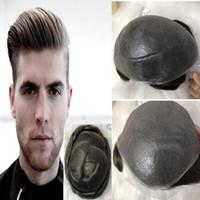 Light Brown Men Toupee Super Ultra Thin Skin Toupee para hombres 8X10 V-Loop Full Pu Cabello humano Hombres Reemplazo de peluca Sistemas Natura Hairl