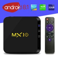Android 9.0 TV Box MX10 4GB / 64GB RK3318 Quad-Core 2.4G WiFi 100M VP9 H.265 USB 3.0 Smart Media плеер