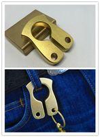 10MM 황동 열쇠 고리 EDC 손가락 고리 황동 너클 깨진 창문 자기 방어 용품 열쇠 고리 펜던트 MenFashion Accessories