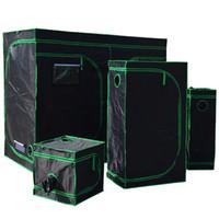 Reflective Mylar Grow Tent Sala de planta verde com Obeservation Janela e Bandeja de Assoalho para Flores Interior Planta Crescendo