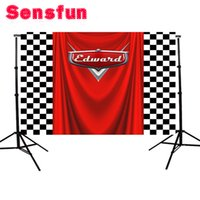 Vinyl Background Cars Flag Kids Birthday Party Custom Photog...