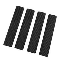 sezioni delle rotaie picatinny tattica della guida di accessori Airsoft Keymod morbida Handguard ferroviario copertura in gomma