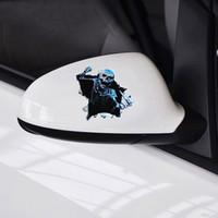 1 ADET YENI Yaratıcı Araba Sticker 3D Kafatası Araba Hood Trunk Thriller Arka Pencere Yansıtıcı Çıkartması Oto Su Geçirmez Araba Styling Kapakları