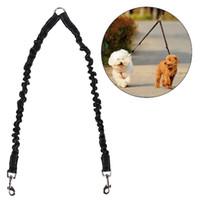 Pet Dog Coupler Bungee Leash Double Walking Lead Elastic Two...