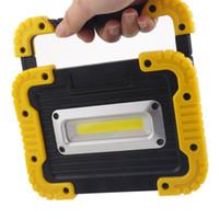 10 W USB Şarj Edilebilir COB LED İş Işık Su Geçirmez Taşkın Işık Güç Bankası Emergebcy Fener Kamp Avcılık Torch Lambası
