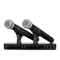 Alta qualidade BLX288 / PG58 BLX88 PG58A UHF Sistema de Microfone Karaoke Sem Fio Com PG58 Dual Handheld Transmissor Mic