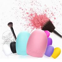 Escovas de Maquiagem de Silicone colorido de Limpeza Escova De Lavar Ovo Escova de Limpeza Da Placa de Purificador de Luva de Gel Escova de Maquiagem