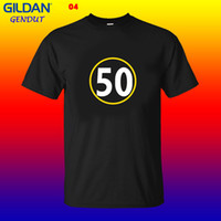 c1d141630 T-shirt de 50 homens T Camisa de Pittsburgh Steelers 50 Ryan Shazier Novo