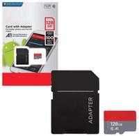 화이트 안드로이드 64GB 128GB C10 UHS-I TF 플래시 메모리 카드 클래스 10 무료 어댑터 소매 블래스터 패키지 Epacket DHL 무료 배송
