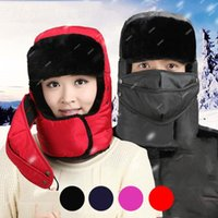 5 Colors Trapper Hats with Ear Flaps Solid Winter Ushanka Ru...