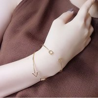 Korean Style Arm Cuff Bracelets Bangles Simple Open Love Bra...