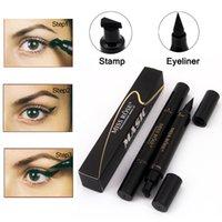 Maquillage Mlle Rose liquide Crayon Eyeliner Waterproof Eye Liner Noir Crayon pour les yeux Stamp Corée Cosmétiques cadeau pour fille