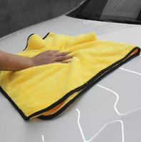 슈퍼 흡수성 세차 마이크로 화이버 타월 자동차 건조 옷감을 청소 대형 92 * 56cm 헴 카 케어 천을 자세히 수건