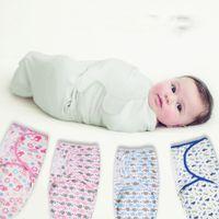 おむつスウォード夏の有機コットン幼児新生薄いベビーラップ封筒スワッドリングスワッドリムスリープバッグスターサック