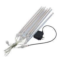 8pcs / Set Tubes de pluie de pluie de météore de la douche LED 100-240V UE / US Plug de Noël Lumières extérieures 30cm / 50cm Etanche de fée de fête de la fête à l'eau