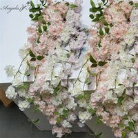 Artificial Cherry blossom Rattan Decorative DIY wedding vine...