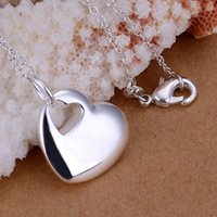 Gratis verzending 925 sieraden verzilverd sieraden accessoire hanger fijne mode schattige hart centrale ketting hangers topkwaliteit CP148