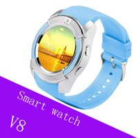 V8 Smart Watch Bluetooth SmartWatch con cámara 0.3M SIM IPS HD Full Circle Display Reloj inteligente para Android con caja