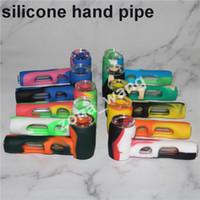 Usine en gros Hot Silicone Marteau Bubbler percolateur bubbler pipe à eau pipes pipes tabac pipe bongs pomme de douche silicone bong