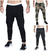 Sports Pants Mens Casual Pocket Pencil Pants Breathable Elas...