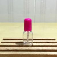 Botellas 5 ML / 5G del clavo vacío esmalte transparente con forma cuadrada cepillo tapón de rosca de plástico transparente Mini tubo de envase de esmalte