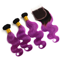 Fairgreat Pre- Colored Human Hair Bundles With Closure Indian...