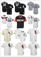 Personalizzato Men's women youth Majestic Chicago White Sox Jersey Nome personalizzato e il tuo numero Black Gray White Kids Girls Maglie da baseball