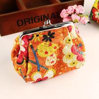 Оптовая продажа горячей продажи мода симпатичные вышитые случае бумажник карты ключи мешок портмоне старинные цветок сумки для женщин бесплатная доставка