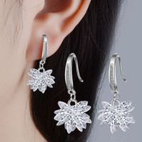 Fashion Hot Rhinestone Zirconia Stainless Steel Stud Earring...