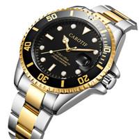 Neu eingetroffen CAROTIF Marken-Männer Uhren Montre Homme automatische mechanische Uhr-Männer kleiden voller Stahl Male Uhr