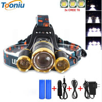 CREE 3pcs XM- L T6 led headlamp headlight 10000 lumens led he...