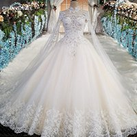 Elegant Applique Wedding Dress With Long Tulle Cape Illusion...