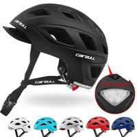 المساعدة الحضري خوذة دراجة BMX ركاب الدراجات خوذة انفصال قناع / LED الضوء الخلفي رجال / نساء / أطفال سكيت السلامة