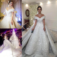 Luxury Wedding Dresses A Line Off The Shoulder Wedding Dress...
